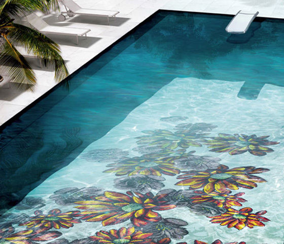 Published june 28 2012 at 560 480 in colored swimming pool tiles inspired by mediterranean - Swimming pool glass tile design ...
