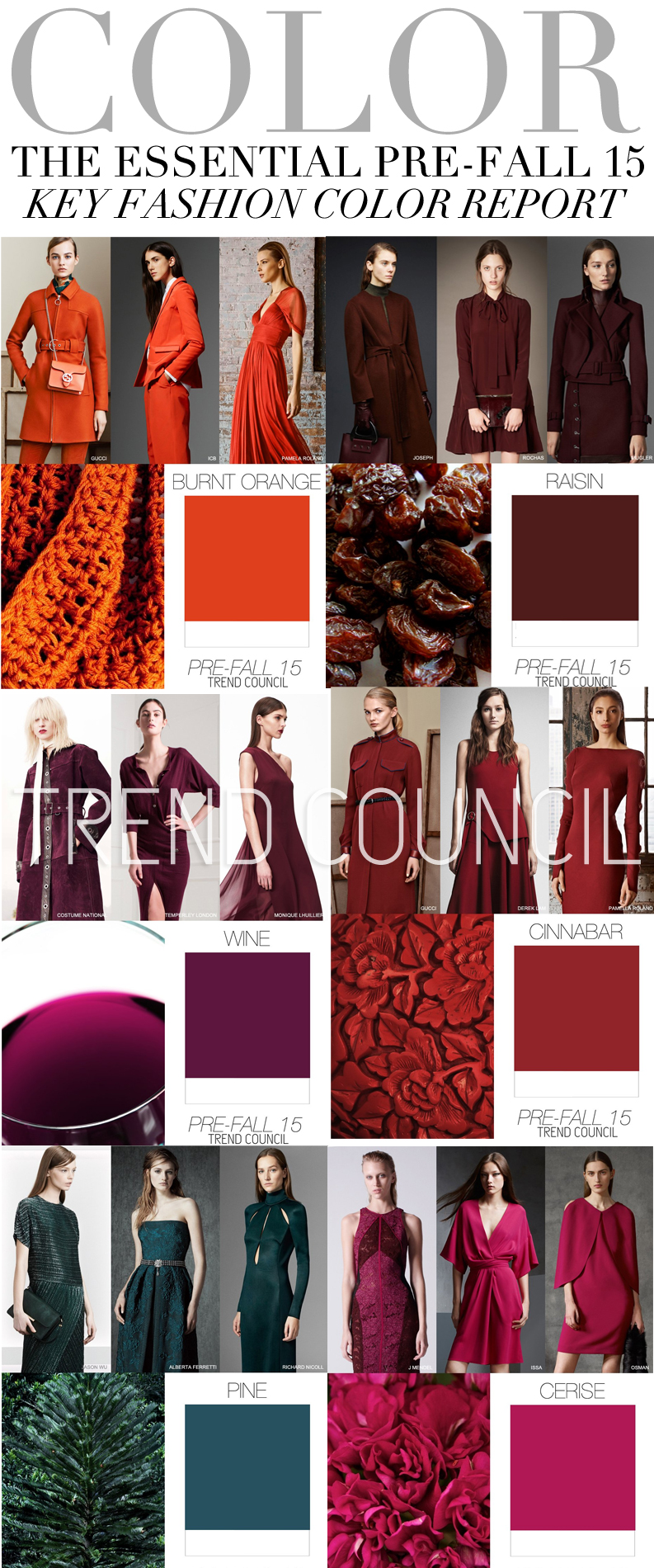 THE ESSENTIAL PRE FALL 15 KEY FASHION COLOR REPORT